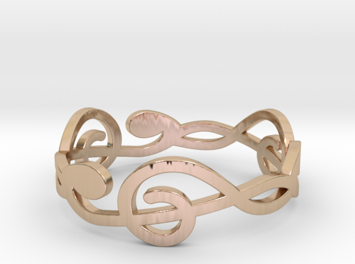 Size 10 G-Clef Ring A 3d printed