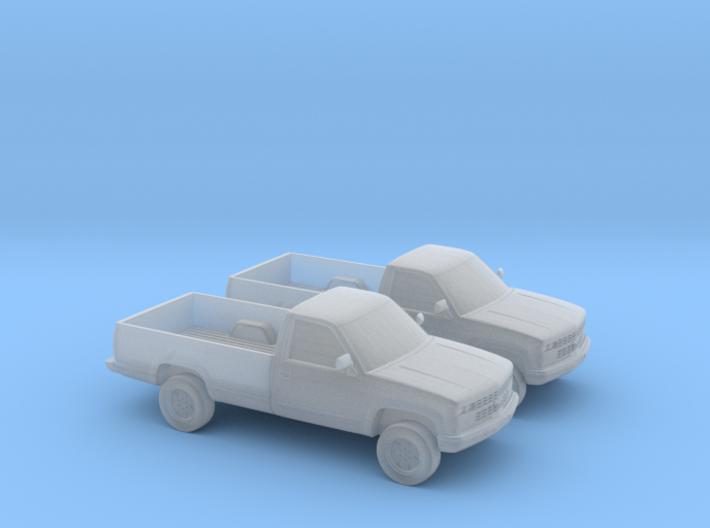 1/160 2X 1989 Chevrolet Silverado Single Cab 3d printed