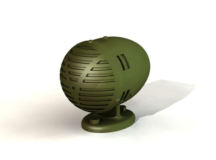 1/16th Scale Siren for M3/M4 Series Tanks 3d printed