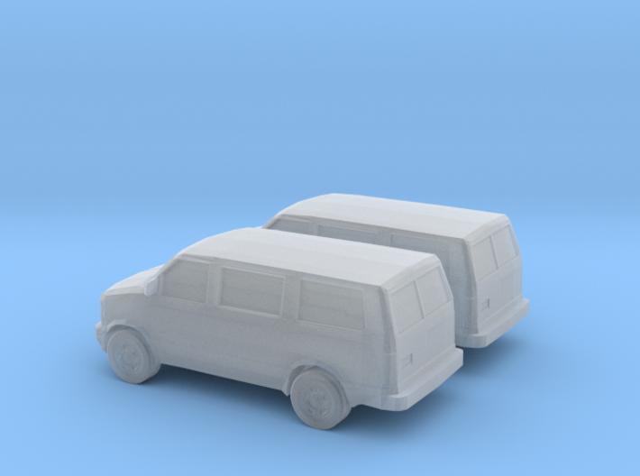 1/160 2X 1995-05 Chevrolet Astro Van 3d printed