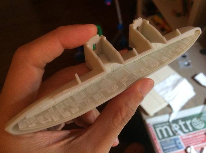 BSG HangarPod Bay Panels 1/4105 SWFUD-4105-004 3d printed prototype in FUD material, final product will be slightly different