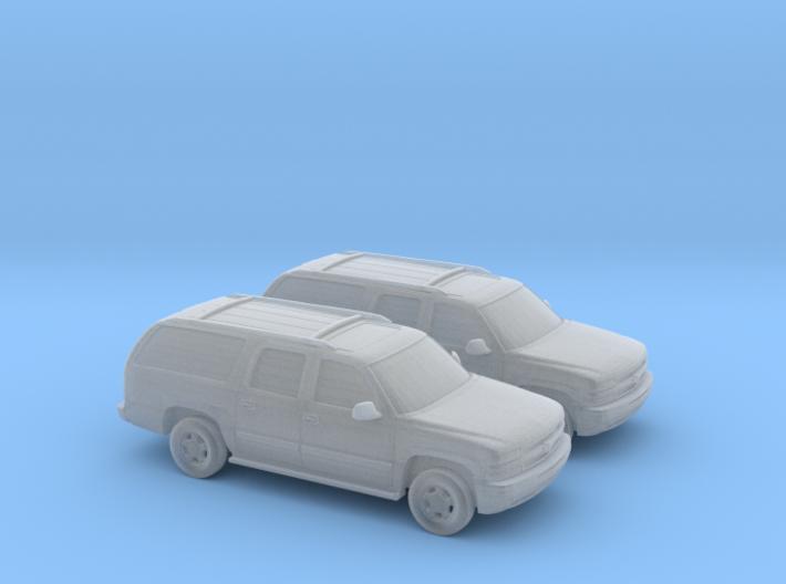 1/160 2X 2000 Chevrolet Suburban 3d printed