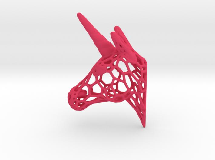 Unicorn Trophy Voronoi (150mm) 3d printed