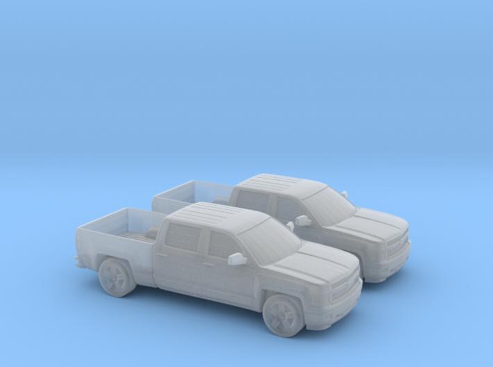1/160 2X 2014 Chevrolet Silverado Crew Cab 3d printed