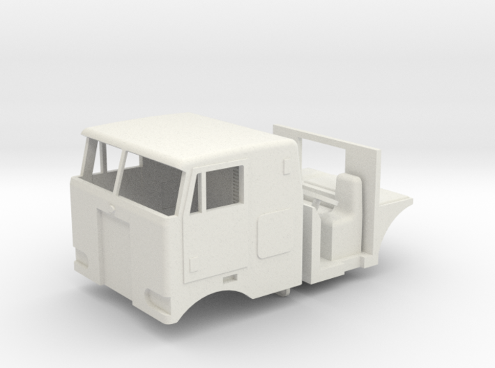 1/64 Peterbilt 352 Cab, Interior, grill and headli 3d printed