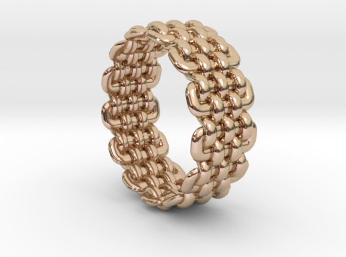 Wicker Pattern Ring Size 8 3d printed
