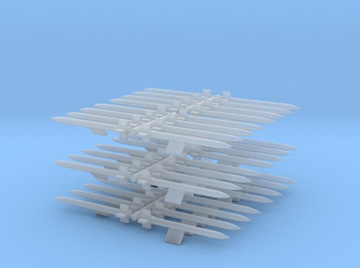 1/144 HVAR Rockets 3d printed