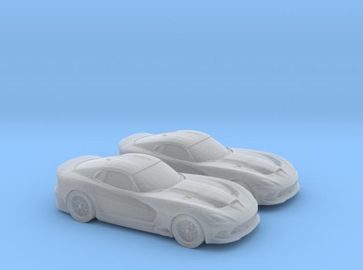 1/160 2X 2014 Dodge Viper 3d printed