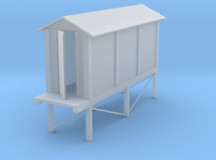 Concrete relay hut (HO) With stand 3d printed
