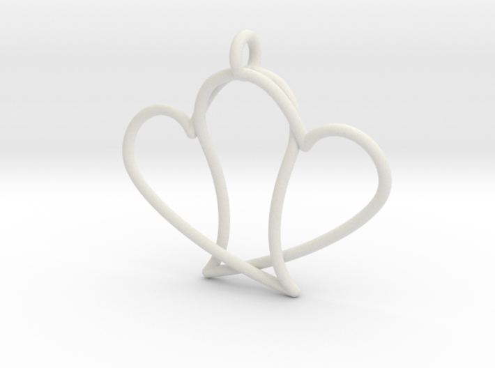 Double Heart 3d printed