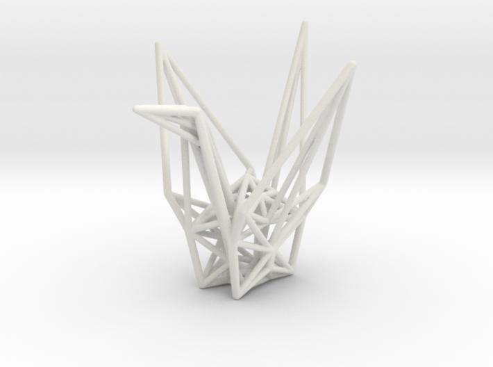 Origami Crane Wireframe 3d printed