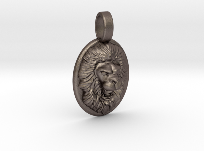 Roaring Lion Pendant 3d printed
