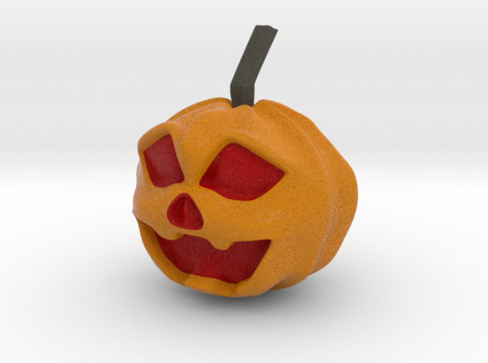 Halloween Hollowed Figurine: Surprised Pumpking 3d printed
