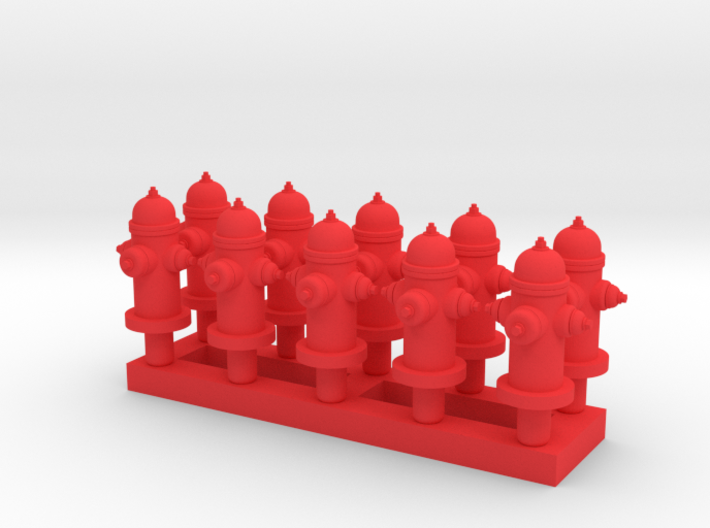 Fire Hydrant - Qty (10) HO 1:87 scale 3d printed