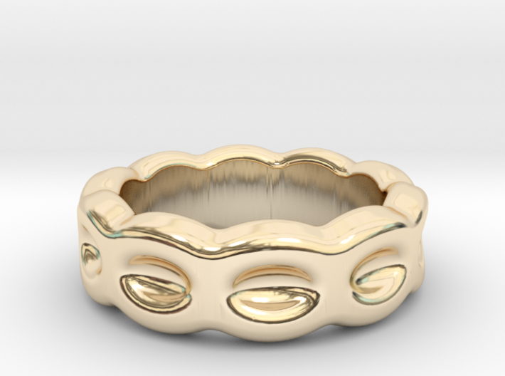 Funny Ring 17 - Italian Size 17 3d printed