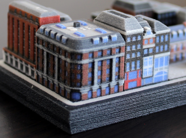 Amsterdam Corner Shopping Centre and Canal Houses 3d printed