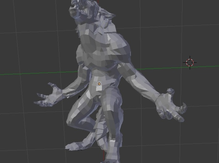 Werewolf from Skyrim 3d printed
