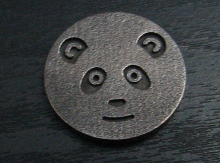 Panda coin 3d printed Heads - face side