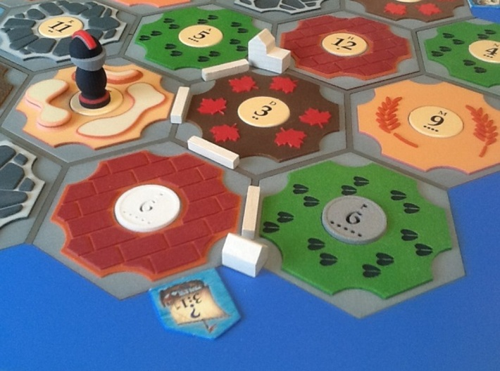 Catan Hex Tile Wheat 79mm 3d printed No wheat = defeat!