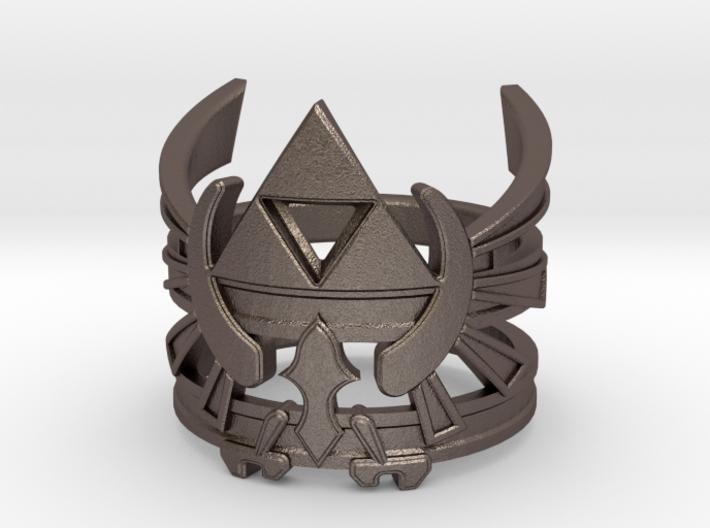 LoZ - Triforce ring - Zelda - medium sizes (15 to 3d printed