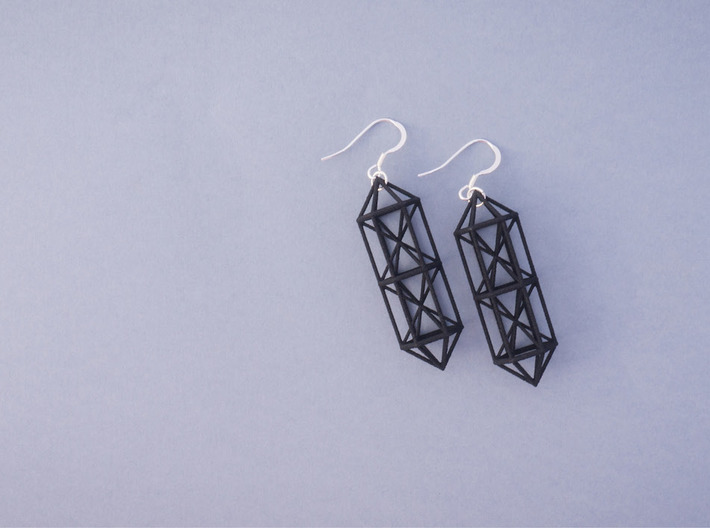 Space Earrings #01 3d printed