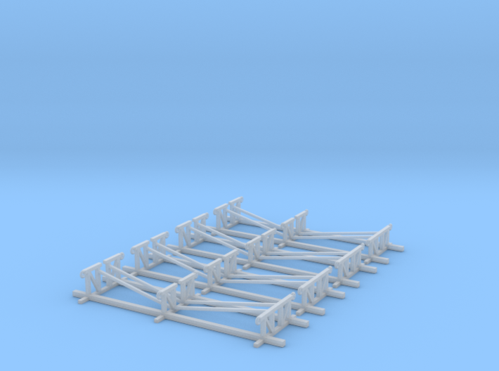 LCVP Boat Stands Z Scale 3d printed 4 boat stands Z scale