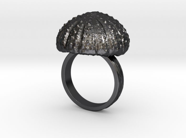 Urchin Statement Ring - US-Size 10 (19.84 mm) 3d printed
