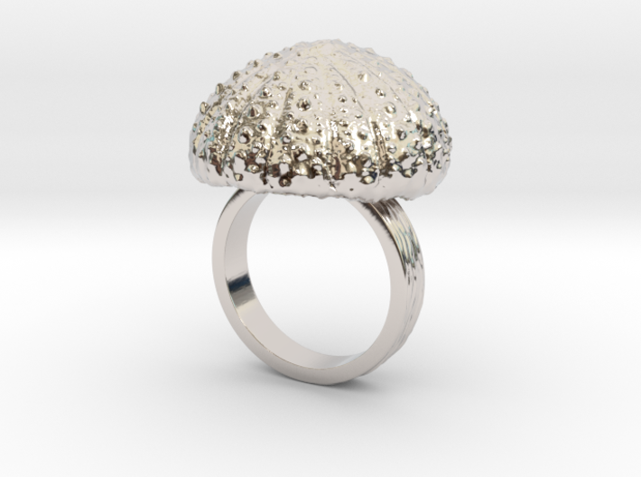 Urchin Statement Ring - US-Size 8 1/2 (18.53 mm) 3d printed