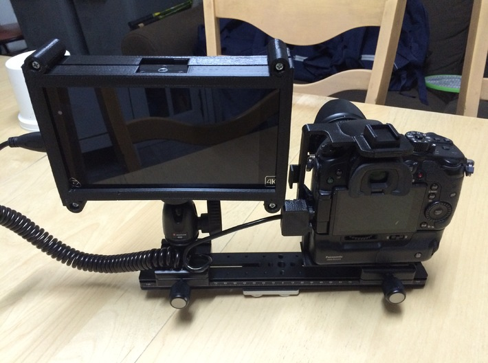 Shogun Cage Part 1 of 2 3d printed Atomos Shogun Cage with GH4 and HDMI Protector