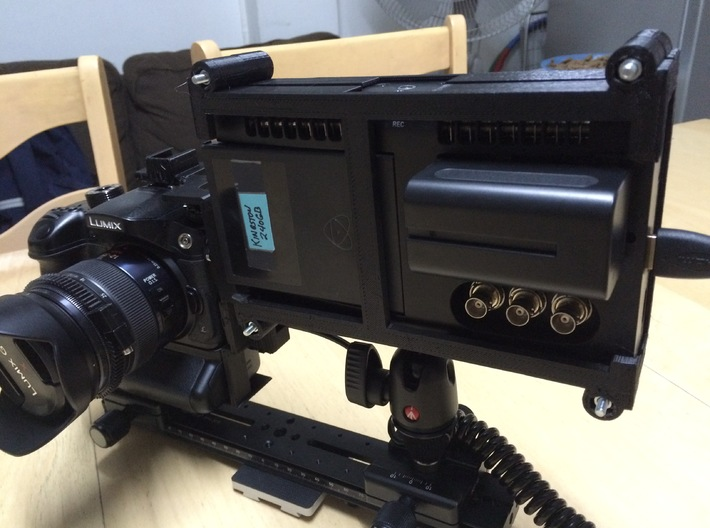 Shogun Cage Part 1 of 2 3d printed Atomos Shogun Cage with GH4 and HDMI Saver