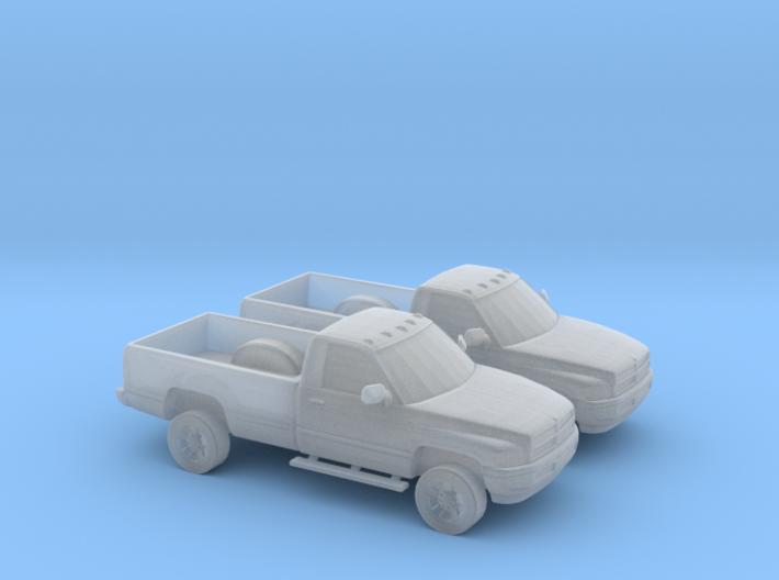 1/160 2X 1995 Dodge Ram Single Cab 3d printed