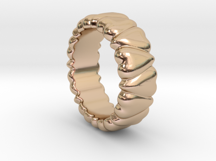 Ring Heart To Heart 14 - Italian Size 14 3d printed