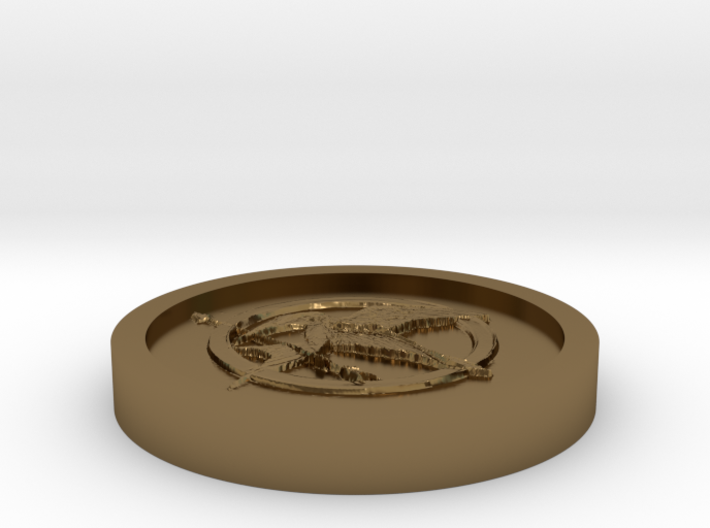 The hunger games Coin 3d printed