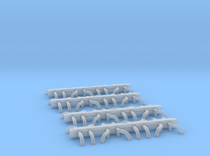 N Scale Wheel Guides (16 Sets) 3d printed