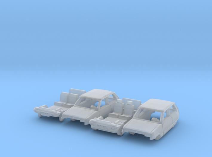 SET 2x Renault 5 (TT 1:120) 3d printed