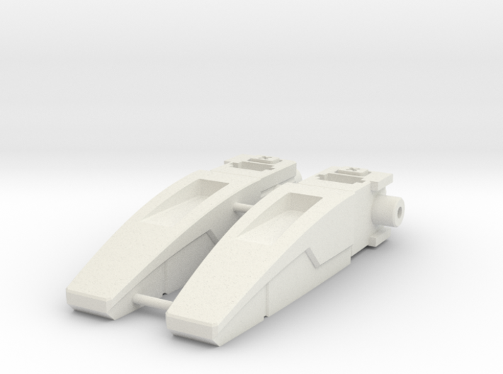 Blocky Glider Inlets 3d printed