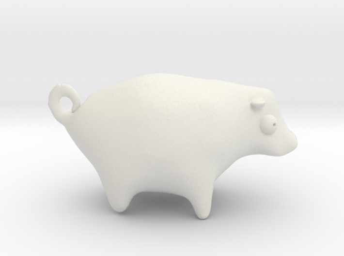 Your Face On the Side of an Abstract Cow Keyring 3d printed