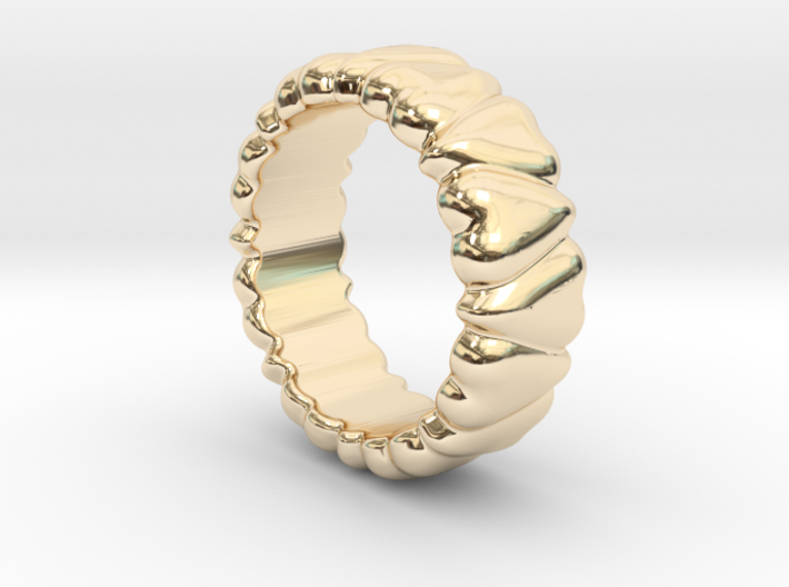 Ring Heart To Heart 17 - Italian Size 17 3d printed