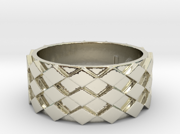 Futuristic Diamond Ring Size 11 3d printed