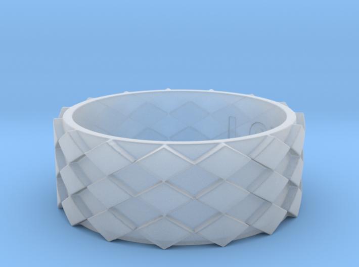 Futuristic Diamond Ring Size 14 3d printed