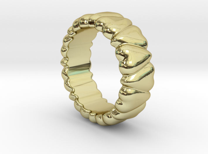 Ring Heart To Heart 24 - Italian Size 24 3d printed