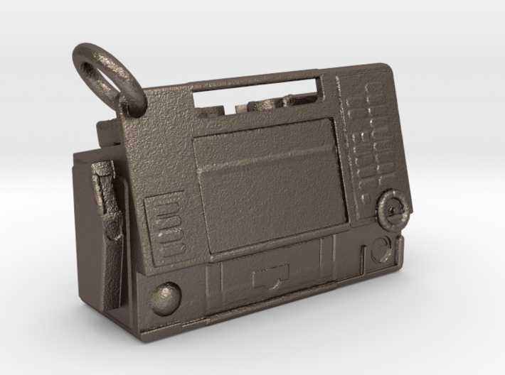 Life-Pack 12 Monitor Keychain (with ring) 3d printed