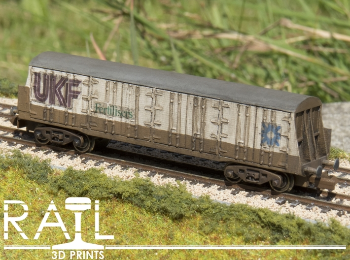 PWA UK Fertiliser Wagon N Scale 3d printed Bogies, Decals, Paint etc not included.