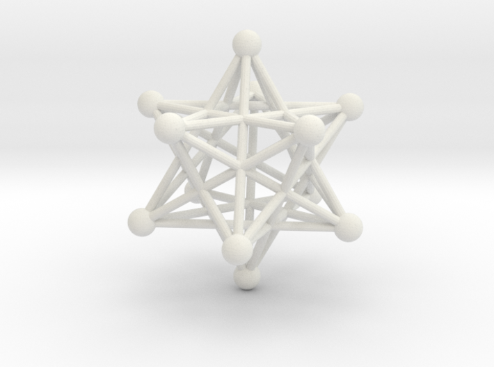 Stellated Dodecahedron pendant 40mm 3d printed