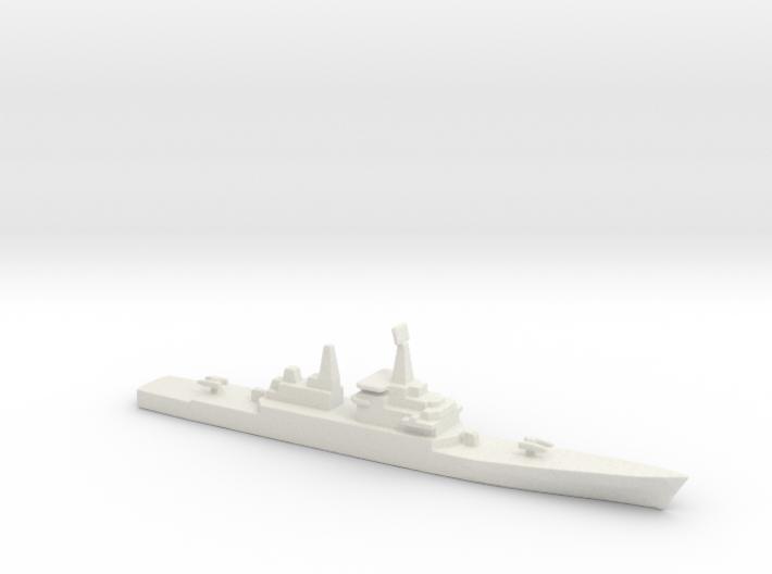 USS CGN-38 Virginia, 1/2400 3d printed