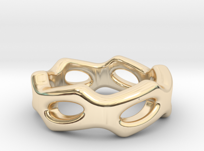 Fantasy Ring 25 - Italian Size 25 3d printed