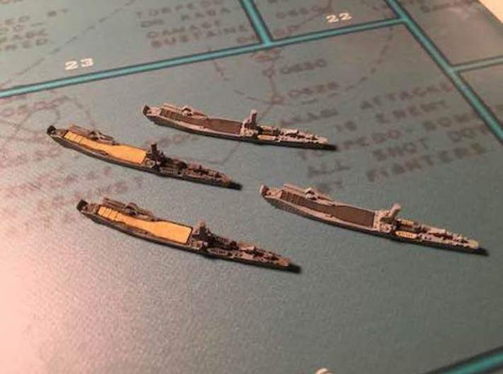 1/2400 IJN No.101 Landing Ship (X4) 3d printed Models shown printed in FUD 1/1800 scale.