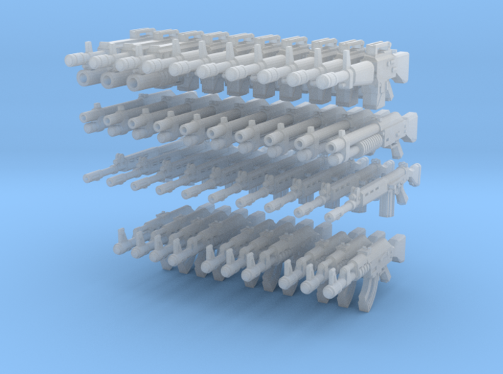 28mm Weapons Rifle Pack 2 (x40) 3d printed