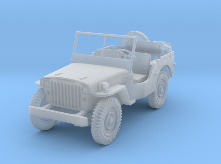 Jeep Willy's 1:87 HOscale 3d printed