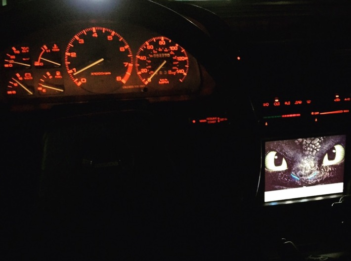 FC RX7 IPAD MINI DASH MOUNT FOR SERIES 5 STEREO BE 3d printed Installed and in action